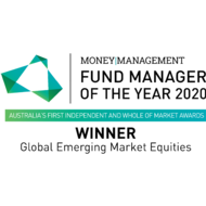 Money Management Fund Manager of the Year - Global Emerging Market Equities - Winner - 2020